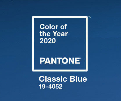 tendances 2020 couleur pantone 2020 classic blue color of the year